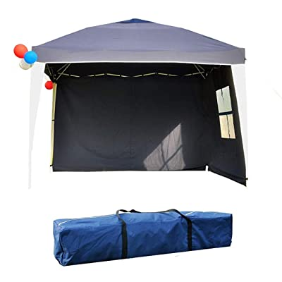 Gaier Folding Gazebo 10'x10' Instant Party Shelter with Carry Bag & 2 Sidewalls : Garden & Outdoor