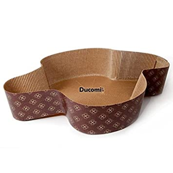 Ducomi® Set de Moldes para Paloma de Pascua y Dulces Pascuales - Papel de Horno