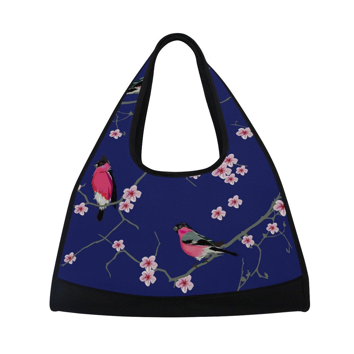 AHOMY Canvas Sports Gym Bag Branches Bird Travel Shoulder Bag