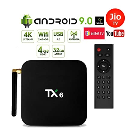 Android 9 0 PROFITECH COMMUNICATION® TX6 Allwinner H6 TV Box 4GB RAM