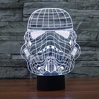 TAMPROAD Escritorio 3D Luz LED Star Wars 7 colores Cambiar ...