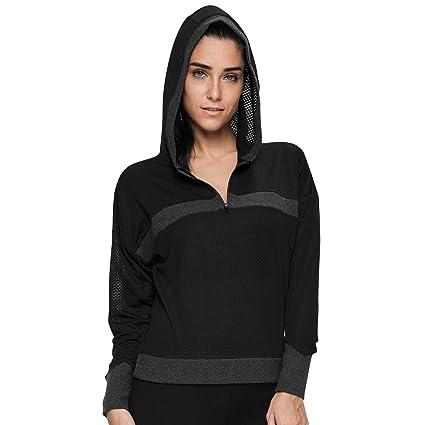 41f332c3bbf VUTRU Women s Long Sleeve Sports Running Tops Mesh Hoodies Half Zip  Pullover Workout Jacket