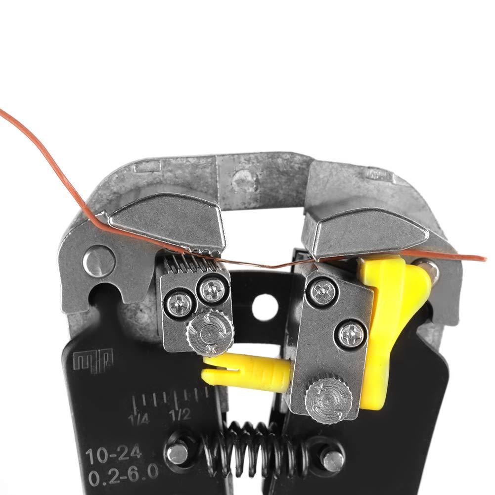 Pince /à D/énuder JL-371 Pince /à Coupe-c/âbles D/énudeur de Fils Automatique R/églable Multifonctionnel Rouge