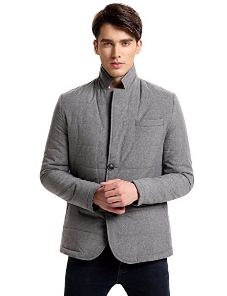 Hoffen Mens Casual Quilted Blazer Chaqueta Perchero de Pared ...