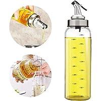 Olive Oil Dispenser Bottle - 17 Oz Glass Oil Bottle Cruets No Drip, Oil Container For Vegetable Olive Oil,Lead-Free…