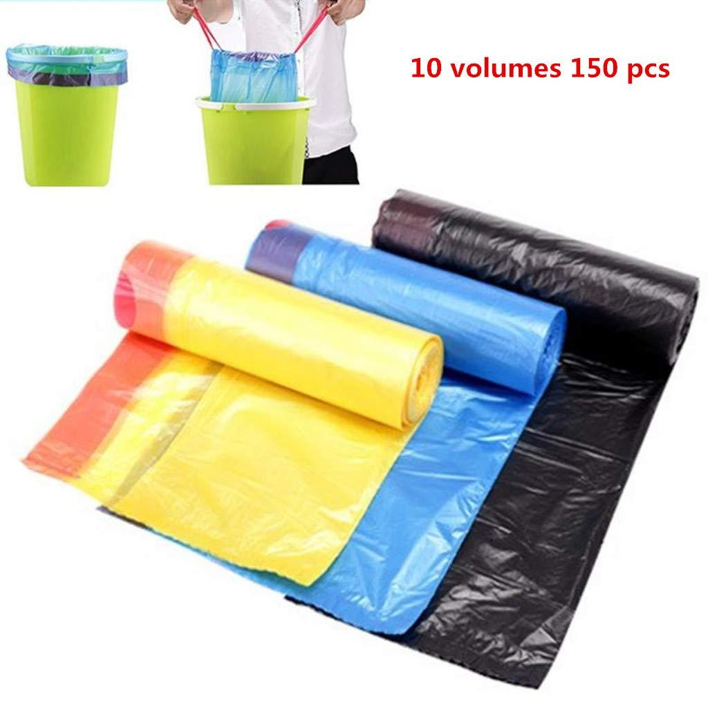 10 Rollo bolsa de plástico fuerte Espesar Auto cordón bolsa ...