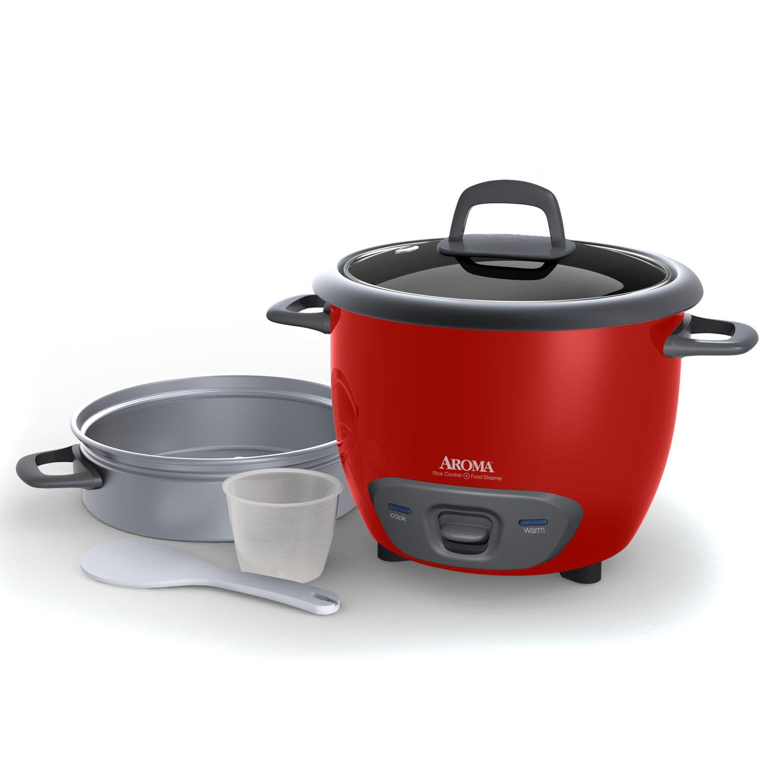 Aroma Housewares 6-Cup (Cooked) (3-Cup UNCOOKED) Pot Style Rice Cooker and Food Steamer by Aroma Housewares (Image #3)