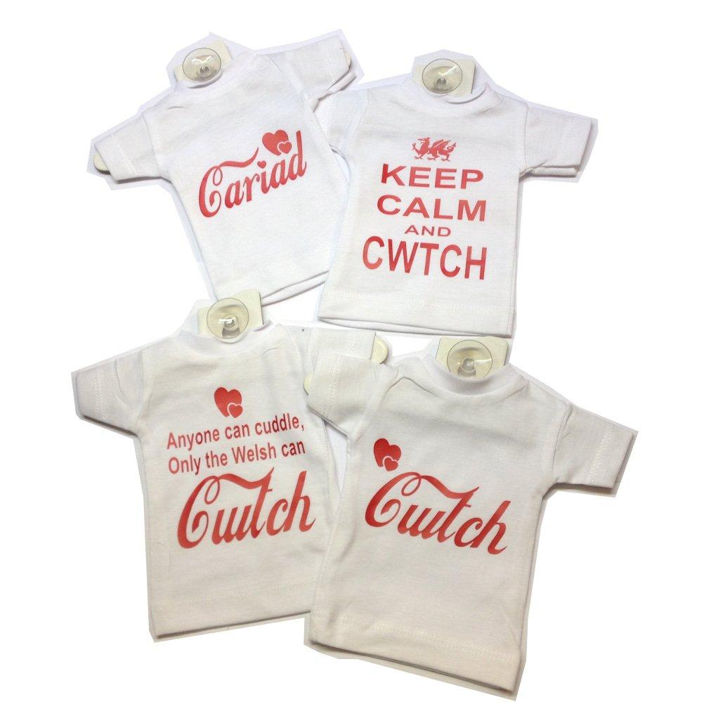 Wales Dialect Mini T-Shirt Car//Window Hanger Cariad