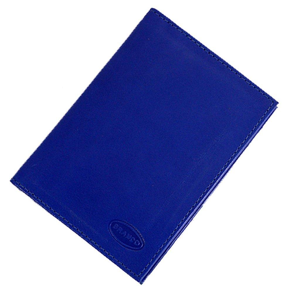 Branco Ausweishülle Ausweisetui Leder Ausweismappe Kreditkartenetui Etui GoBago (Blau)