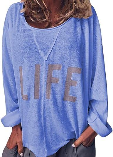 Camicie da Donna Camicetta Bottoni Maglietta Maniche Lunghe Collo V Tinta Unita T-Shirt Blusa in Chiffon Solido Top