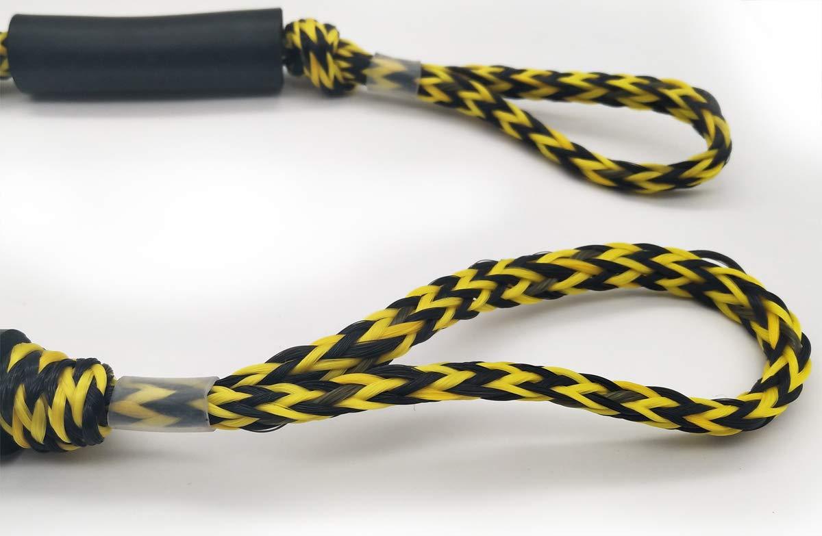 Jranter Bungee Dock Line Mooring Rope for Boat 3.5 ft 2 Pack Besda Tech USJr-DockLine170cm-BW2EA
