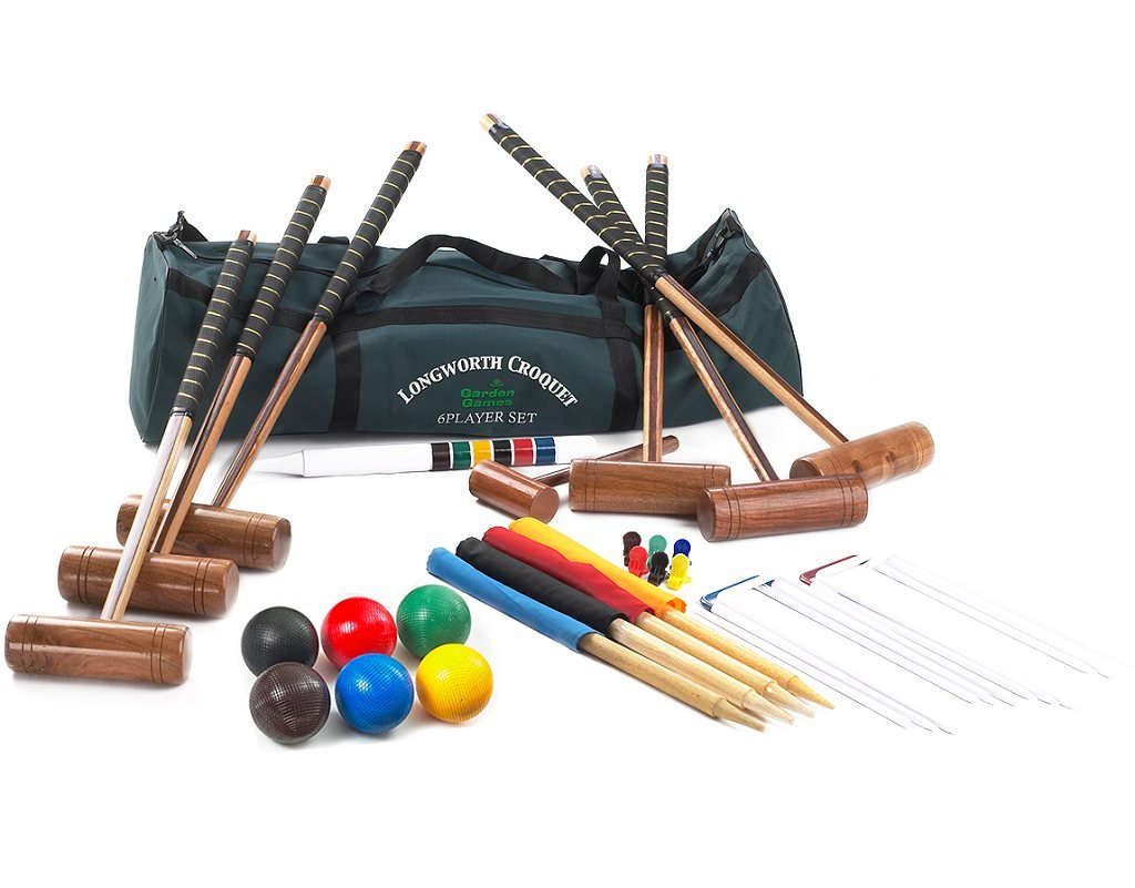 Garden Games Longworth 6 Player Croquet Set in a Canvas carry bag by Garden Games