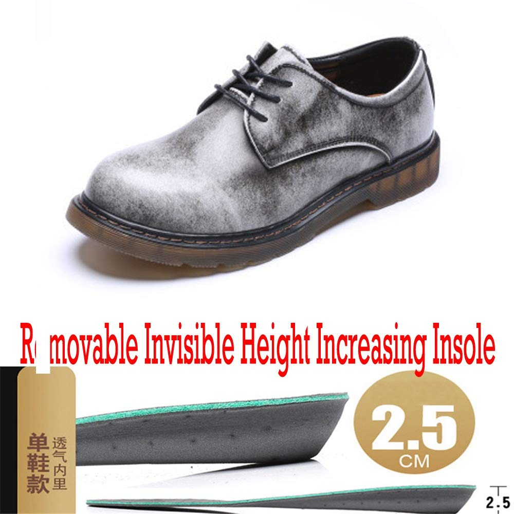 Sunny&Baby Men's Elevator Work Boots Genuine Leather Low Top Removable Waterproof Shoes Removable Top 1
