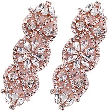 Small Sparkly Ab Heart Crystal Diamante Rhinestone Glitter Stud Earrings