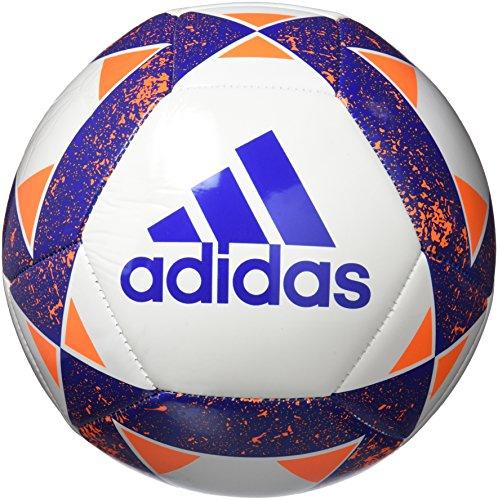 adidas Starlancer V Balón de Fútbol, Hombre Blanco (Azul/narsol)