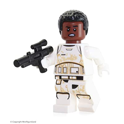 LEGO Star Wars The Force Awakens LOOSE Minifigure - Finn Stormtrooper FN-2187 with Blaster Gun: Toys & Games
