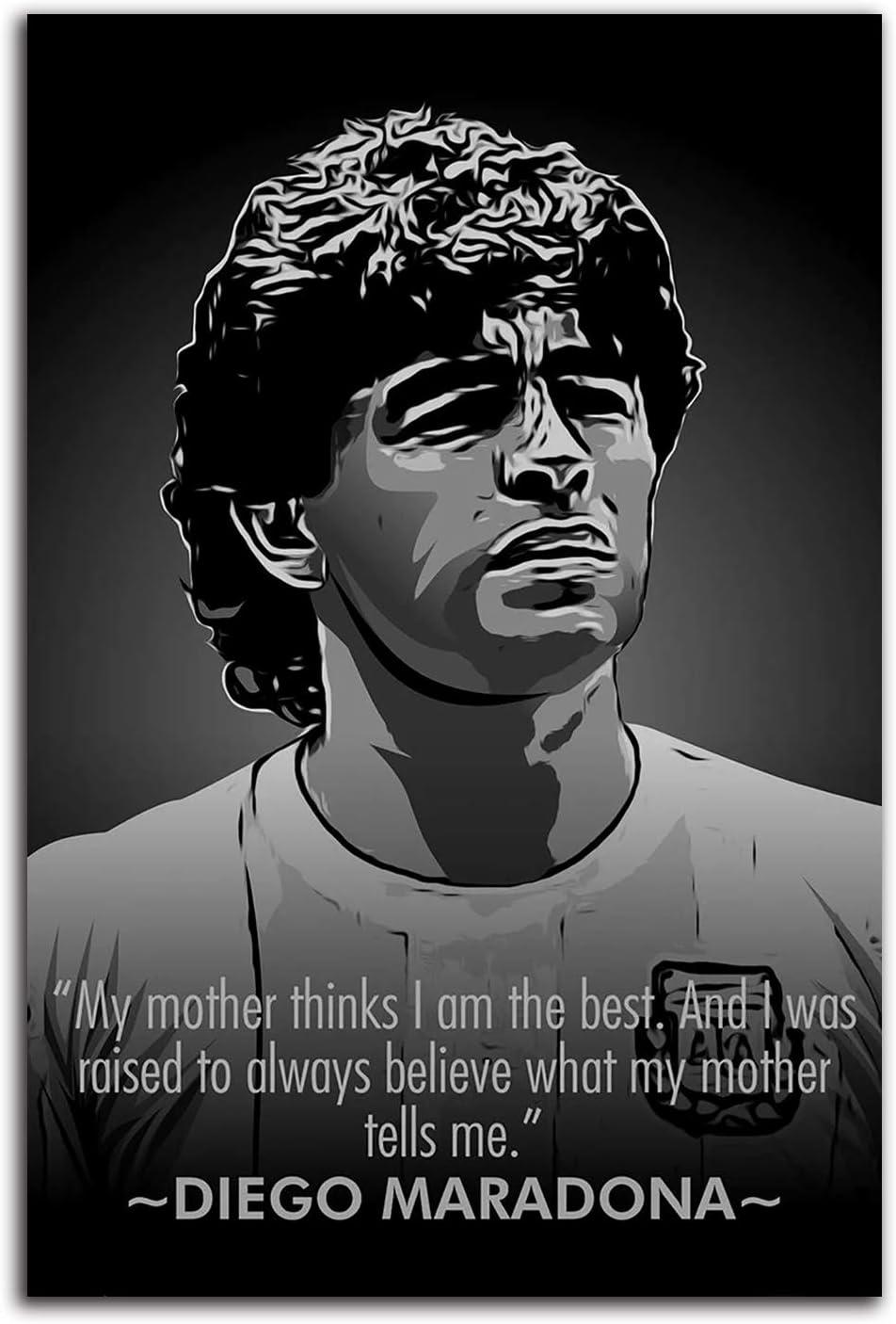 ARYAGO Diego Maradona - Cuadro artístico (40,6 x 60,9 cm), diseño de jugador de fútbol argentino La mano de Dios