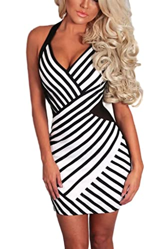 Dearlovers Women Thick Straps Vintage Bodycon Party Dress