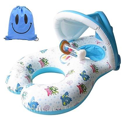 Amazon.com: ABC hinchable flotadores Dual Persona mamá y ...