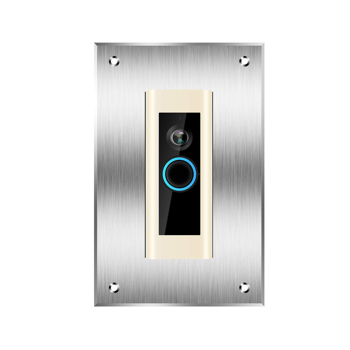 Personalize Aluminum Square Faceplate Cover Fingerprint Resistant Bracket Mount Silver DYKEISS Mount Wall Plate for Ring Video Doorbell Ring Doorbell 2