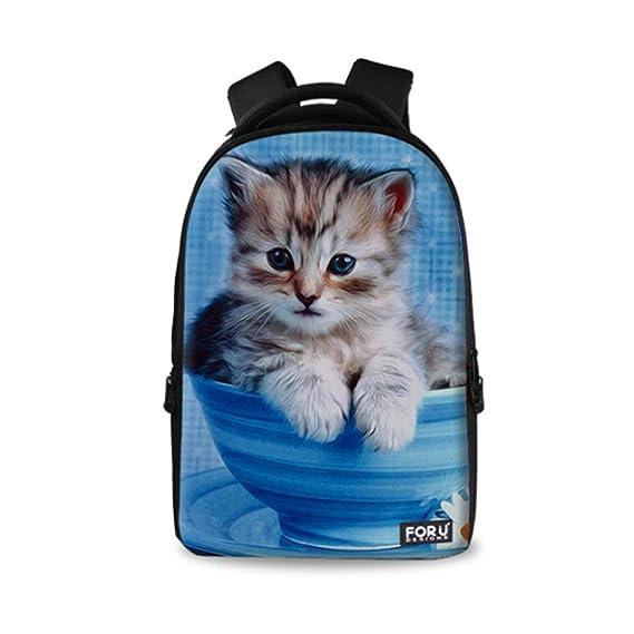 c297816a38d Amazon.com  HUGS IDEA Women Pet Cat Backpack Travel School Book Bag   HUGSIDEA
