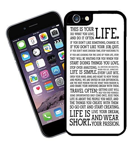 Citations et mots inspirants 015Étui pour téléphone portable–Ce modèle compatible avec Apple iPhone 6(non 6Plus)–by Eclipse idées cadeau