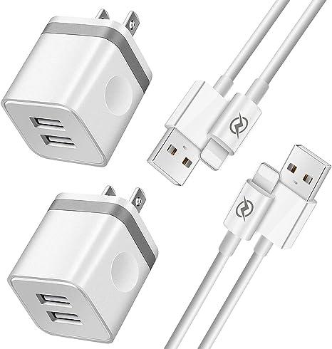 Amazon.com: NICE Cargador de teléfono cable de 10 pies con ...