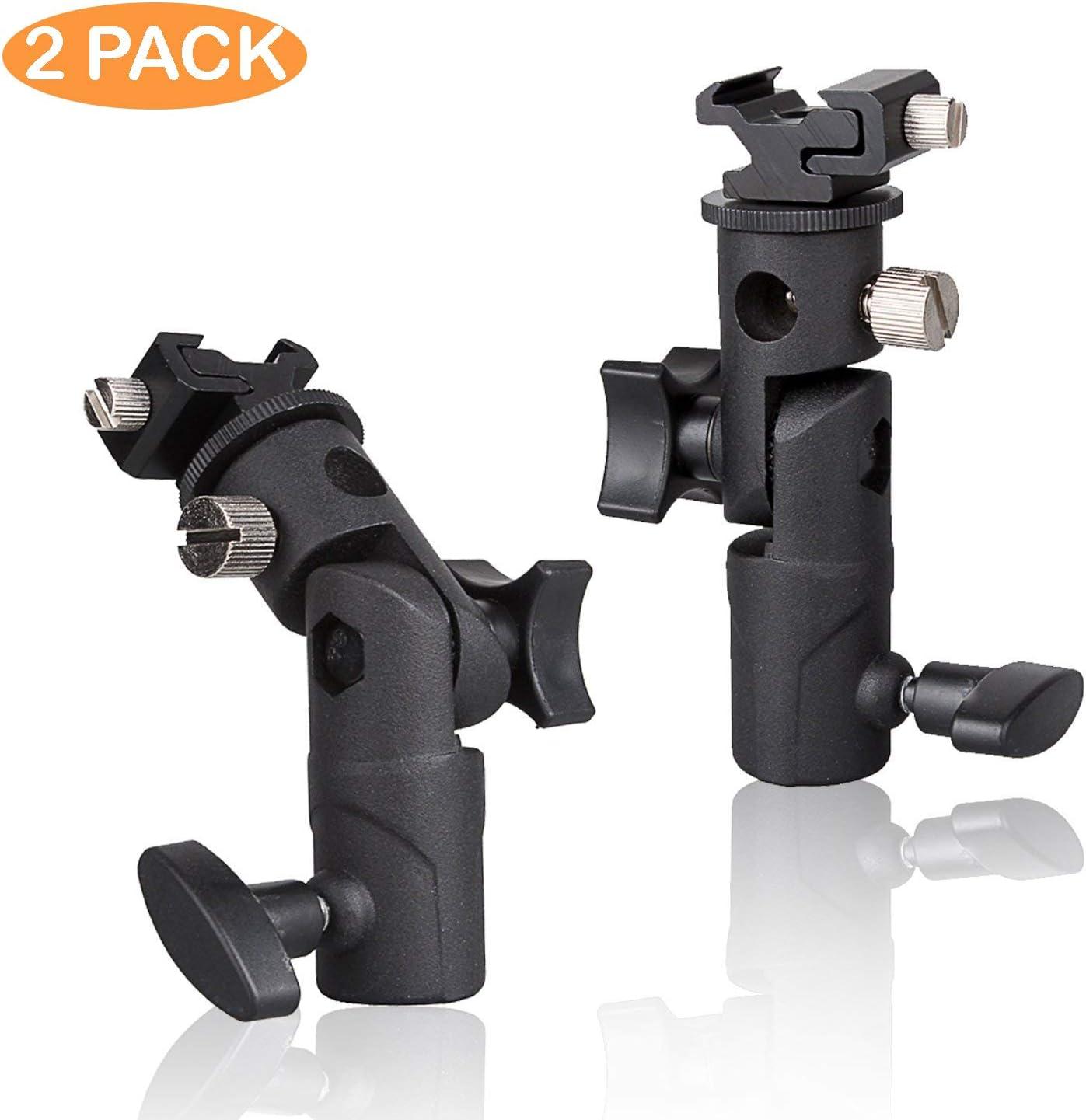2 pcs 3//8 inch Male Convert Screw Threaded Screw Adapter Spigot Stud for Flash Bracket Light Stand JSAG354 Standard 1//4 Julius Studio Hot Shoe Adapter