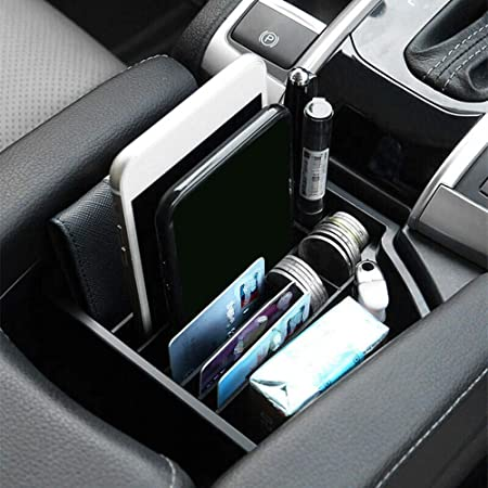 Aplicable A Honda Civic 10th 2016-2018 Central Console Armrest Storage Box Organizador Bandeja styleinside Caja De Almacenamiento Central Para Autom/óvil