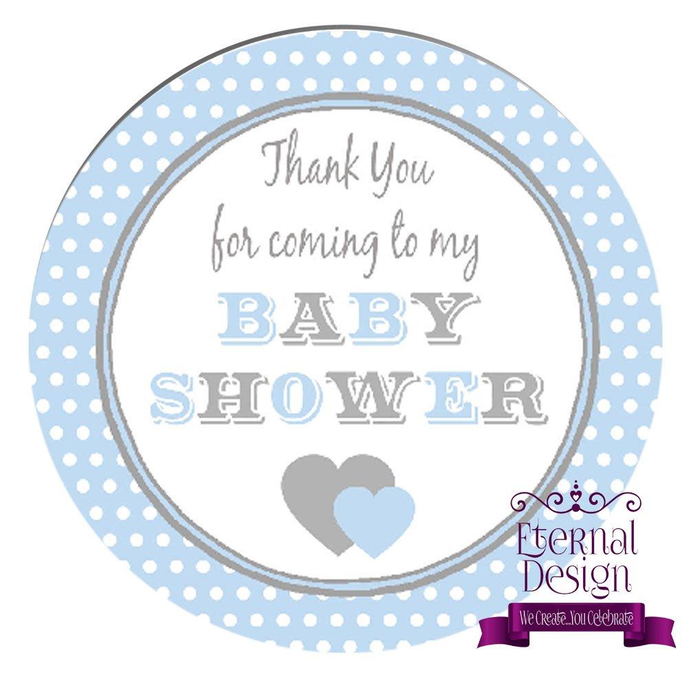 Eternal Design 24 x 45mm Baby Shower White Stickers BSCS 2