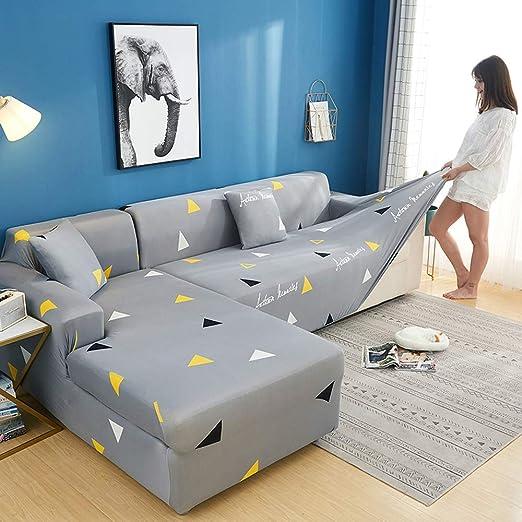 KWPAHD Funda de sofá 2 pcs Corner Sofa Cover Elastic Couch ...