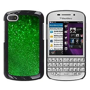 Jordan Colourful Shop - Green Glitter Imitation Patrick'S For BlackBerry Q10 Custom black plastic Case Cover