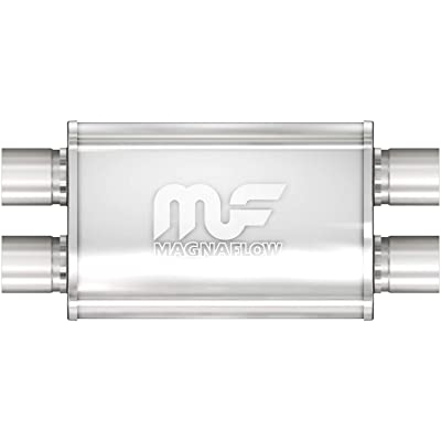 "Magnaflow 11385 Stainless Steel 2.25"" Oval Muffler: Automotive"