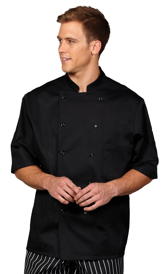 Superior Uniform Group Unisex Coolin Edge Short Sleeve Chef Coat with Mesh Back by Superior Uniform Group