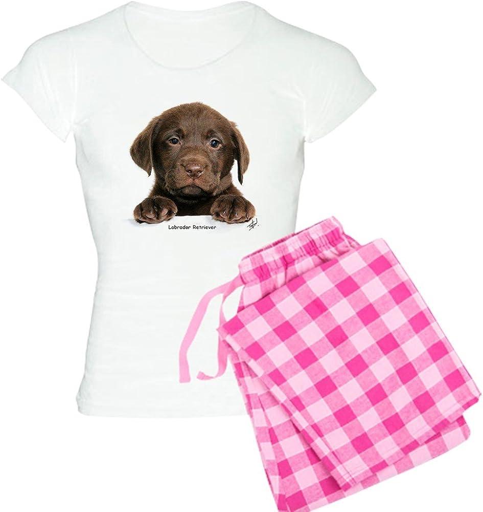 CafePress Chocolate Lab Womens Novelty Cotton Pajama Set Comfortable PJ Sleepwear