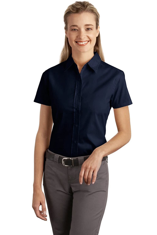 Port Authority Women's Short Sleeve Easy Care Soil Resistant Shirt
