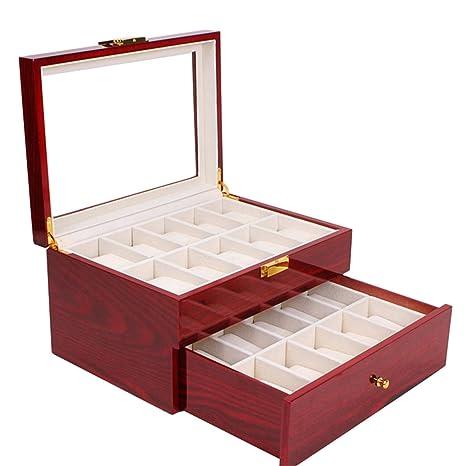Amazon.com: Nisorpa - Caja de madera con 20 ranuras para ...