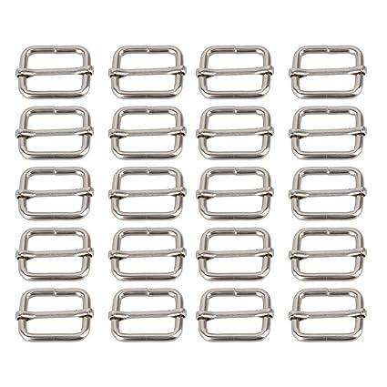 Langlebig Perfeclan 16 St/ück Aluminium-Schnallen Gurtband Verbindungsclips Gurtversteller f/ür Tasche Rucksack Gep/äck