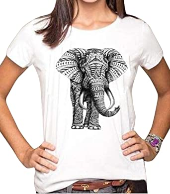 76087018cb1392 OULIU Womens Elephant Printed O Neck T-Shirt Top tees at Amazon ...