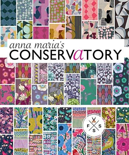 (Anna Maria Horner Conservatory Precut 5-inch Squares 48 Pc. Cham Pack Cotton Fabric Quilting Squares Assortment Free Spirit)