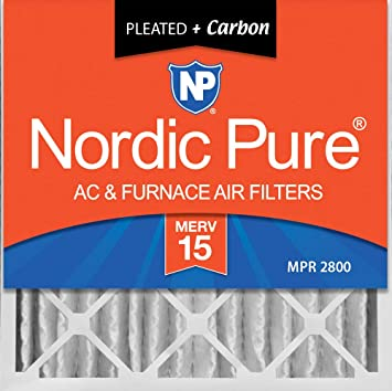 Nordic Pure 16x20x1 MERV 13 Pleated AC Furnace Air Filters 1-Inch 12 Pack