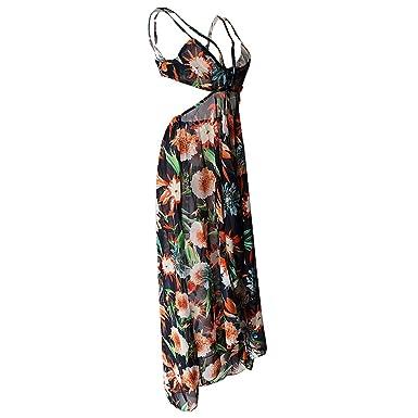Manches Xl Sans Maxi Dress Orange Magideal Longue Femme Robe kTOPXZui