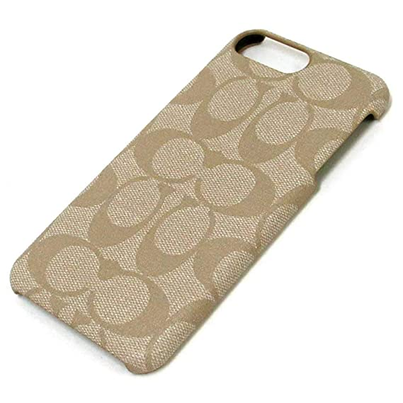 buy online 8d875 97d65 Coach Signature Coated Canvas Phone Case for iPhone 8 Plus/iPhone 7 Plus  (Ivory)