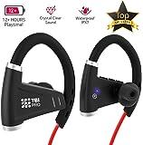 Bluetooth Headphones w/ 12+ Hours Battery - Best Workout Wireless Sport Earphones w/Mic - IPX7 Waterproof Music Earbuds for Gym Running (Sport Headphones)