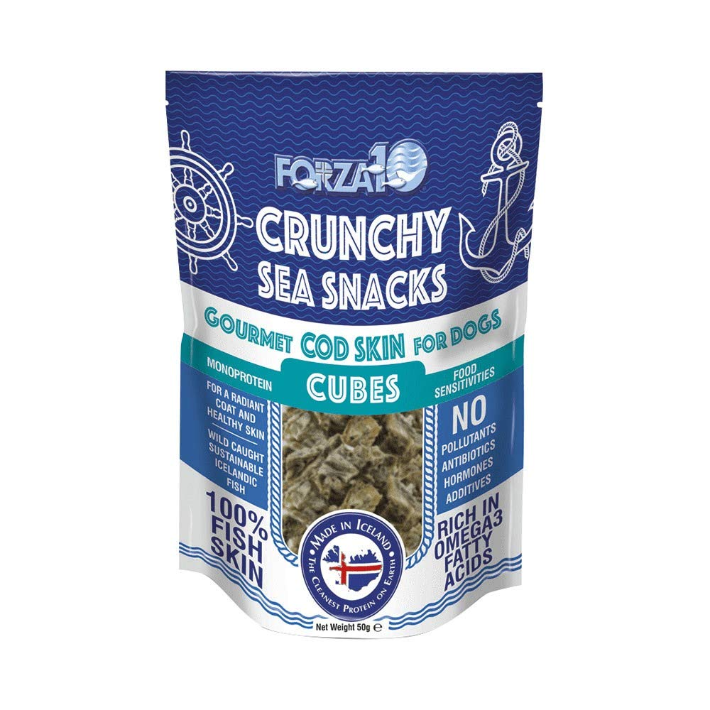 FORZA 10 SNACK CRUNCHY SEA SNACK - CUBES - GR. 50