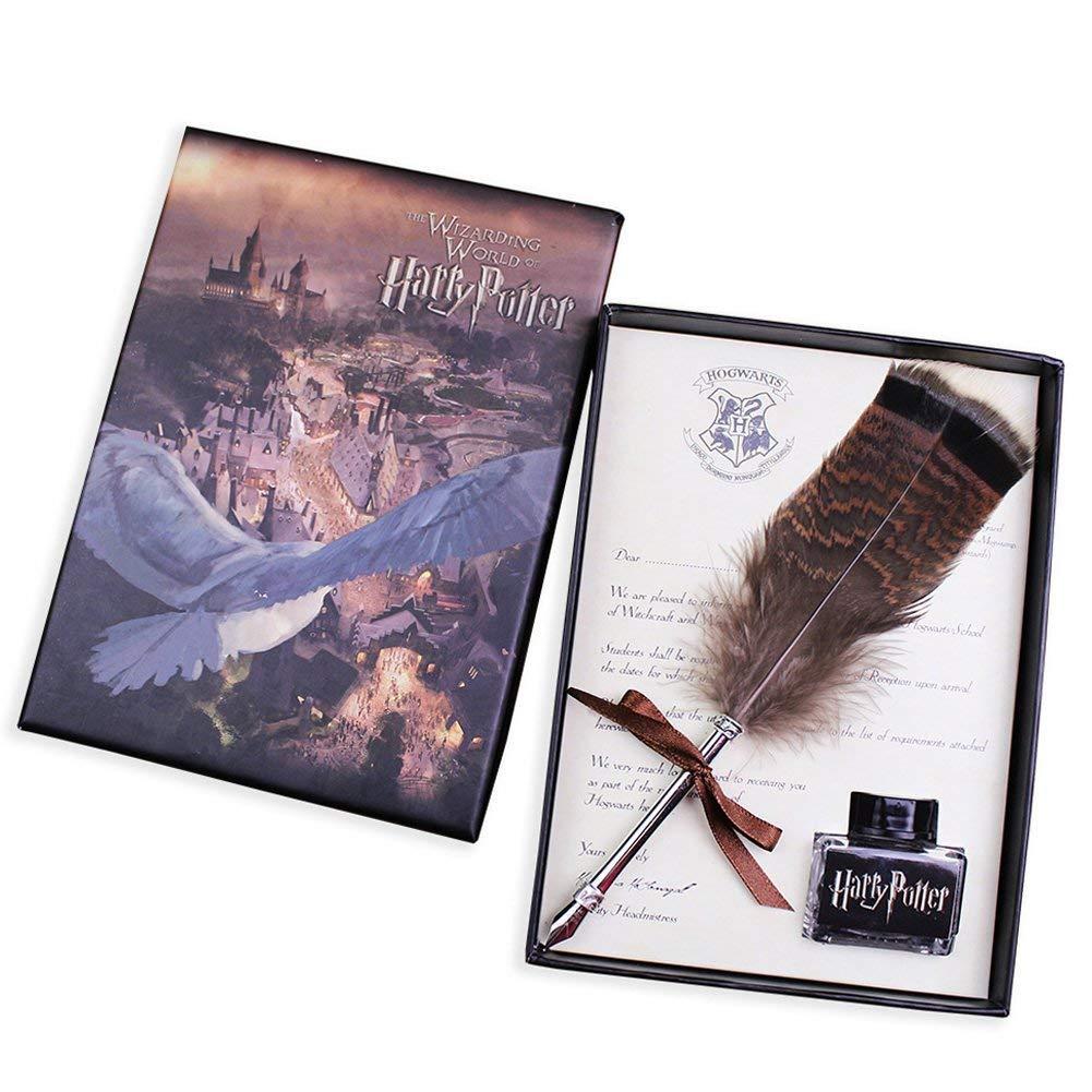 Feather Pen ECVISION Antique Dip Feather Pen Set Calligraphy Pen Set Writing Quill Ink Dip Pen