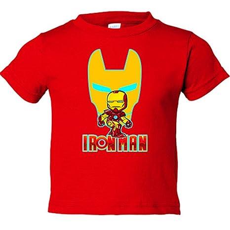 Camiseta niño Iron Man mascara - Rojo, 3-4 años