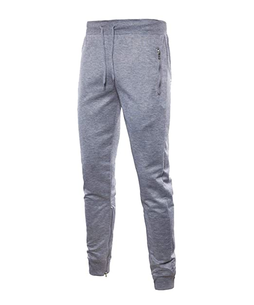b2da939293 Saoye Fashion Pantalones De Chándal Largos De Fitness para Hombre Gimnasio  Mens Ropa Color Sólido con Cremallera Pantalones De Pantalón De Colores  Sólidos  ...