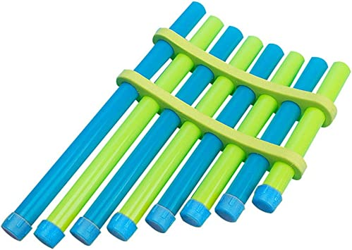 TOYANDONA 2 Sets Kids DIY Pan Flutes 8 Pipes Panpipe Toys Musical Instrument Toys for Kids Children Students