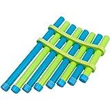 DIY Panflute Children Handmade Music Toy Pan Flute Musical Instruments for Kids & Student (Random Color)